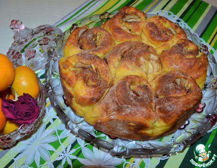 Рецепт: Пирог творожно-тыквенный