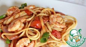 Рецепт: Макароны с морепродуктами
