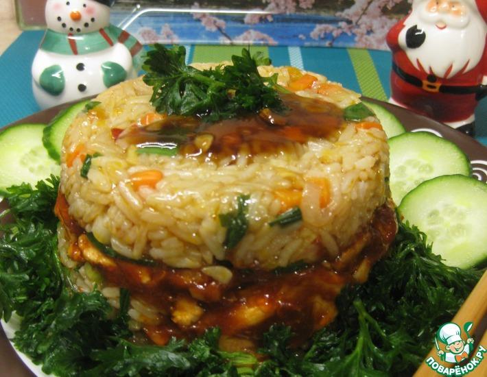 Рецепт: Мясо с рисом по-японски