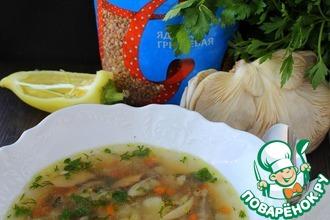 Рецепт: Суп с гречкой и грибами