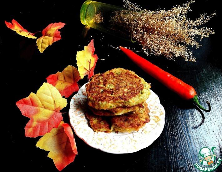 Рецепт: Картофельно-тыквенные оладьи Золотая осень