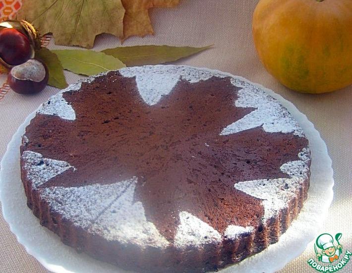 Рецепт: Шоколадно-тыквенный пирог