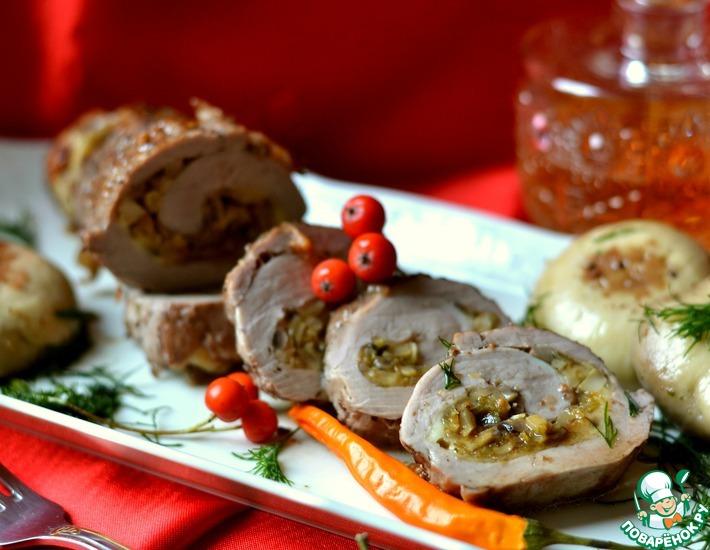 Рецепт: Фаршированная свиная вырезка