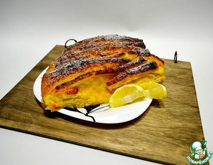 Рецепт: Пирог Гармошка с лимонно-апельсиновой цедрой