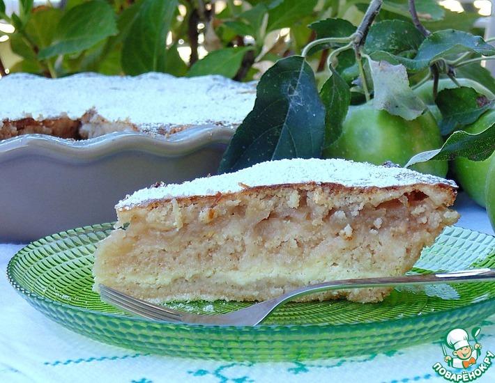 Рецепт: Болгарский пирог с творогом и яблоками