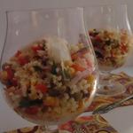 Салат с пшеном, ветчиной и кукурузой