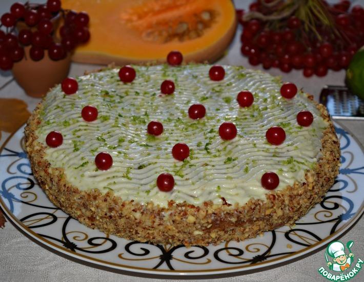 Рецепт: Тыквенно-ореховый торт Осенние краски