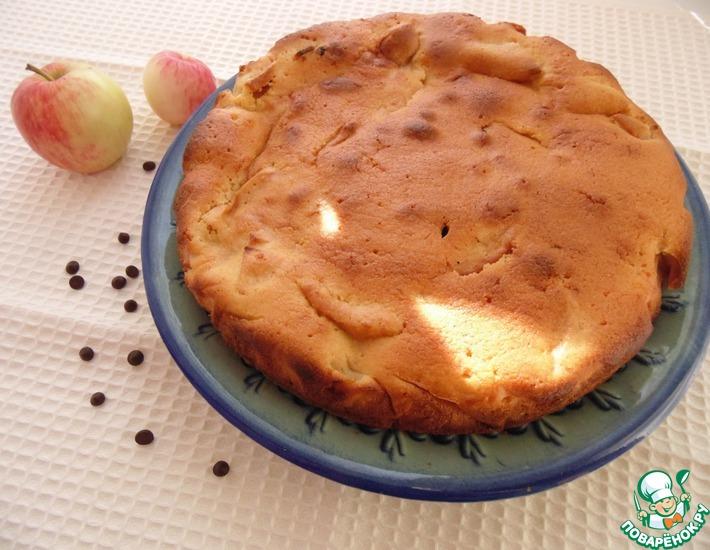 Рецепт: Манник-шарлотка с шоколадом