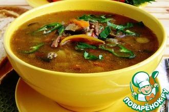 Рецепт: Жареный суп с овощами и чечевицей