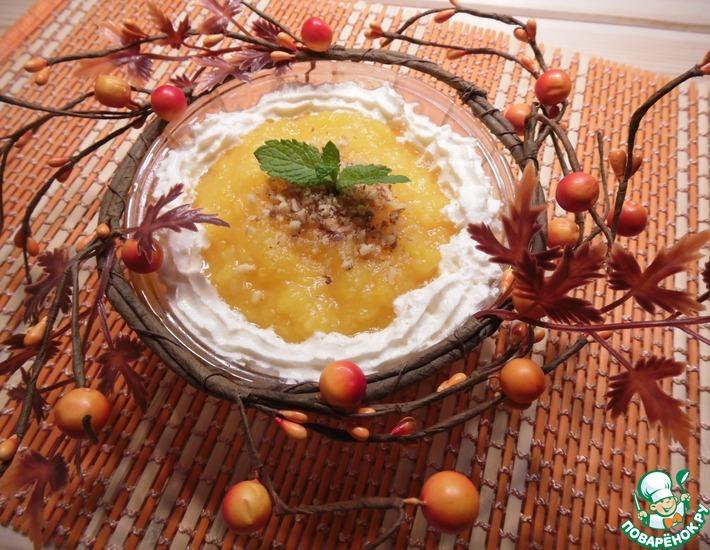 Рецепт: Тыквенно-ананасовый десерт