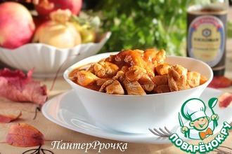 Рецепт: Куриное филе под яблочным барбекю-соусом