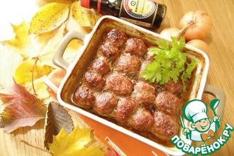 Рецепт: Фрикадельки с овощным соусом