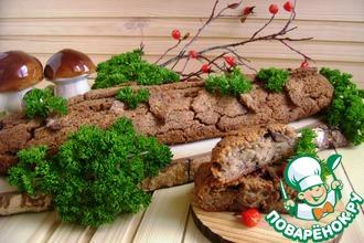 Рецепт: Гречневое полено с печенью и грибами