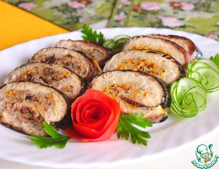 Рецепт: Рулеты из скумбрии с рисом и гречкой