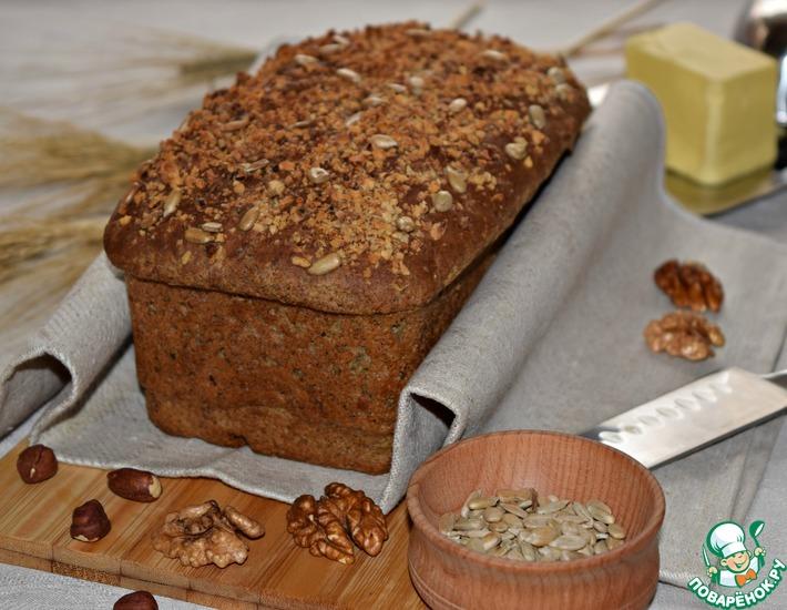 Рецепт: Конопляный хлеб с орехами