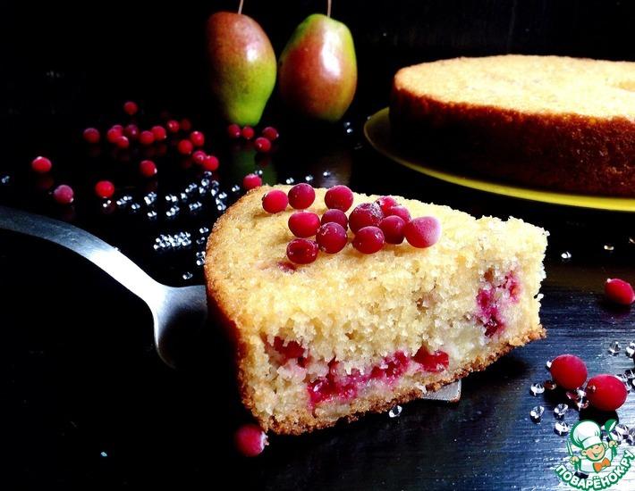 Рецепт: Грушево-клюквенный пирог Доступные роскоши