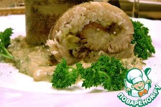 Рецепт: Фаршированные рулеты из щуки с рисом