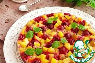 Рецепт: Фруктово-ягодный гречневый бисквит