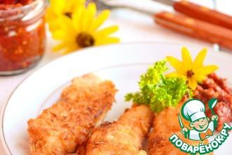 Рецепт: Курица жареная Домашний фастфуд