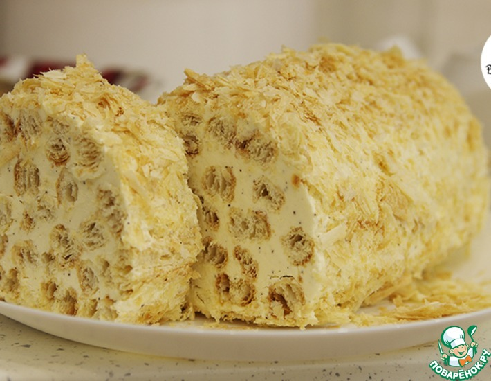 Рецепт: Торт Полено с кофейным вкусом