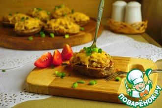Рецепт: Картофельная мини-запеканка с копченой рыбой