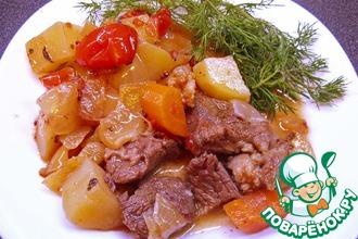 Рецепт: Рагу из говядины способом медленной готовки