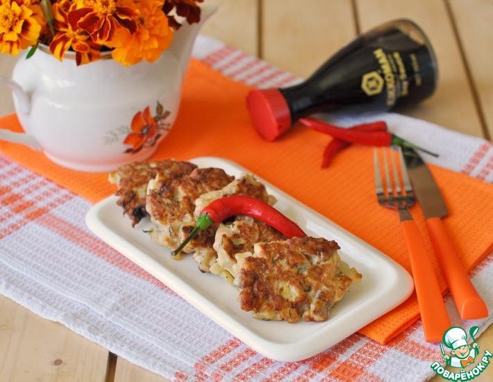 Рецепт: Рубленые котлеты из лосося и цуккини