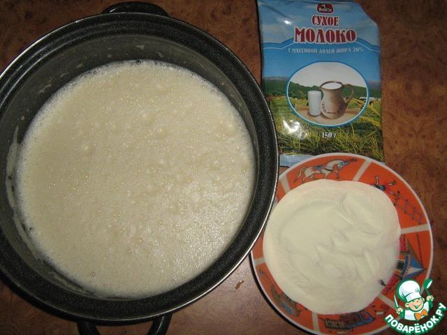 бисквит из сухого молока рецепт с фото вкусный мясной