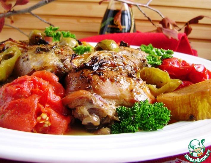 Рецепт: Курица для лентяек «Праздничная сиеста»
