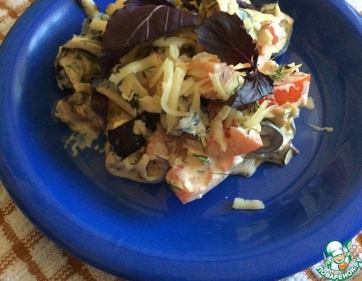 Рецепт: Салат из помидоров и баклажанов