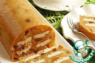Рецепт: Карамельно-яблочный пудинг