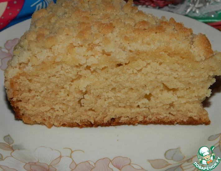Рецепт: Немецкий сливочный пирог с штрейзелем