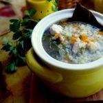 Куриный суп с пшеном и лимоном