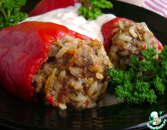 Рецепт: Фаршированные паровые перцы