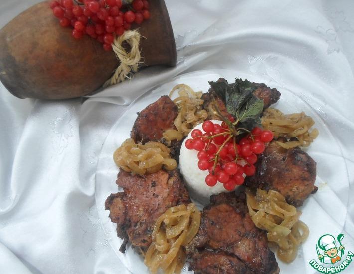 Рецепт: Мясо, запеченное в вишневом сиропе
