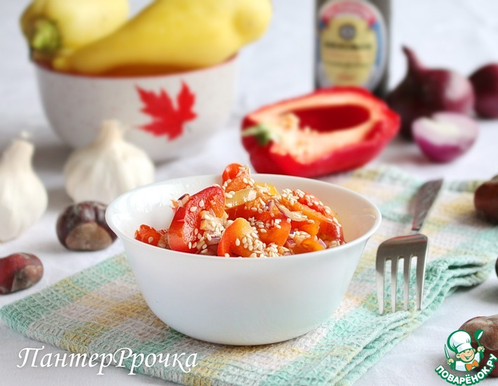 Рецепт: Салат из болгарского перца по-азиатски