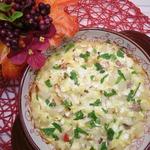 Запеканка с картофельно-мясными фрикадельками