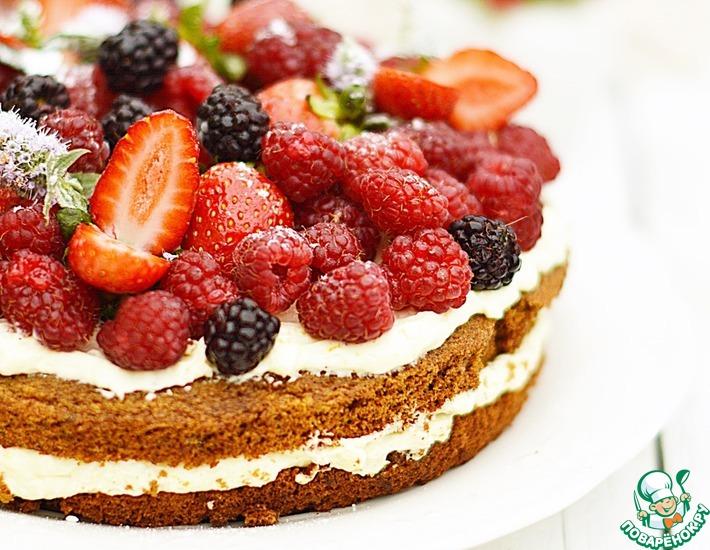 Рецепт: Торт без глютена и сахара