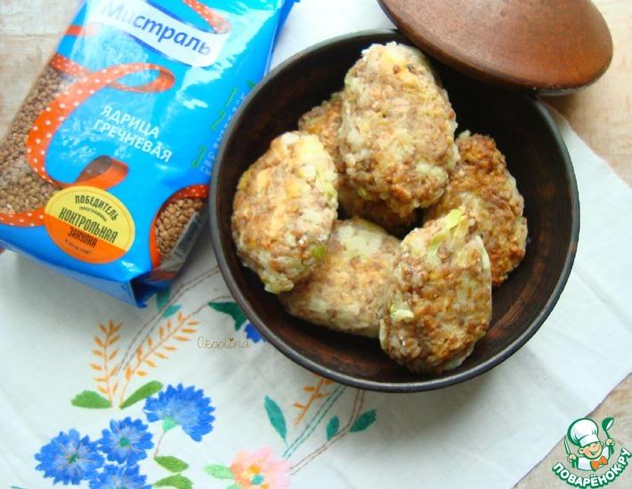 Рецепт: Котлеты гречневые с капустой