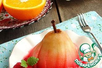 Рецепт: Груши-пашот во фруктовом сиропе