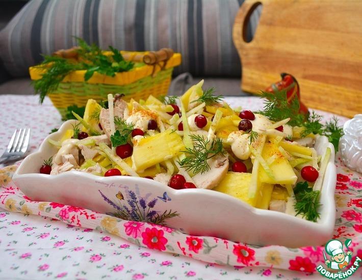 Рецепт: Салат с кольраби