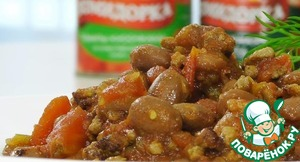 Рецепт: Говядина с фасолью и томатами