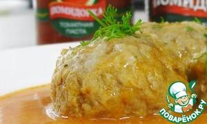 Рецепт: Тефтели с рисом в томатном соусе