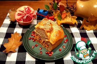 Рецепт: Пирог с осенними овощами и индейкой