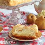 Грушевый пирог с йогуртной заливкой Дуновение