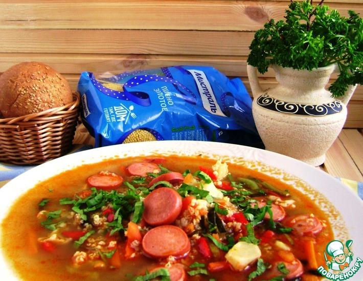 Рецепт: Суп с пшеном и овощами