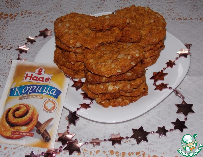 Рецепт: Печенье Анзак с корицей