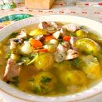 Суп из брюссельской капусты с шампиньонами