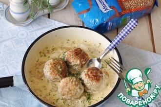 Рецепт: Зразы с гречкой в грибном соусе