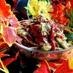Салат по мотивам зеленого лобио